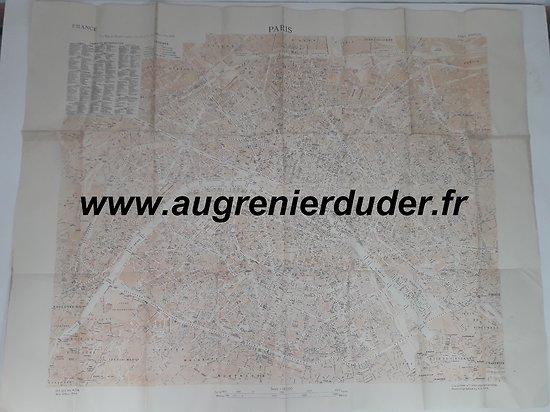 Carte Paris 1944 US wwII
