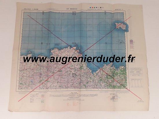 carte Saint-Brieuc / Sopron US wwII