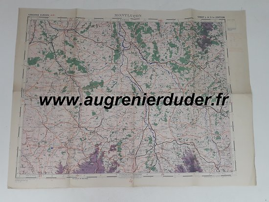 Carte / air map Montluçon US wwII