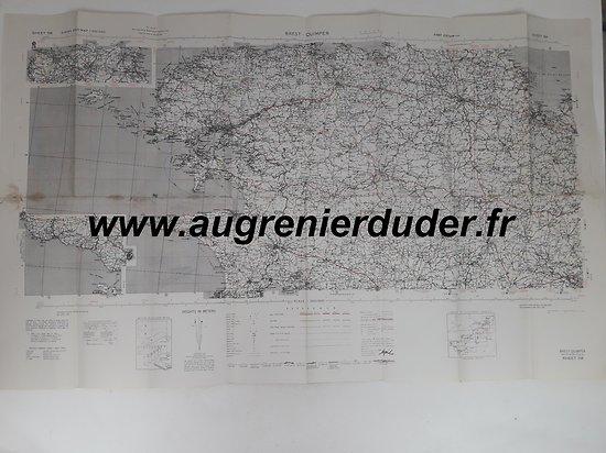 Carte Brest / quimper US wwII