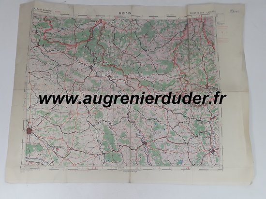 Carte Reims US wwII