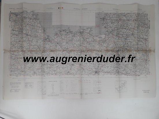 Carte Saint-Brieuc Rennes US wwII