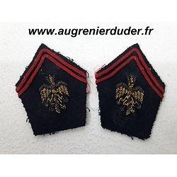Paire pattes de col officier état major France 1940