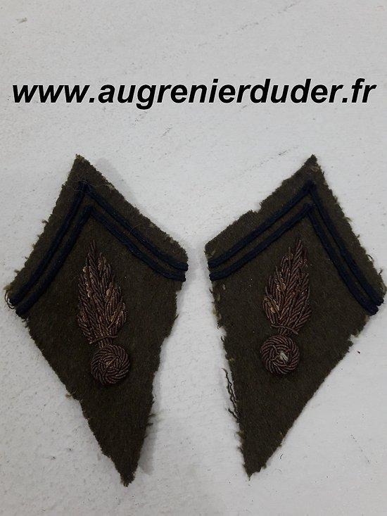 Paire de pattes de col officier France 1940