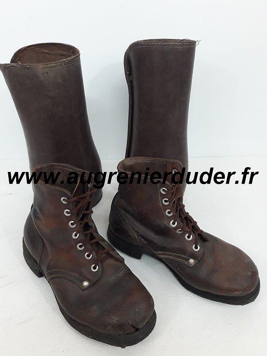 Brodequins et guêtrons Gendarmerie 1940 / 1950