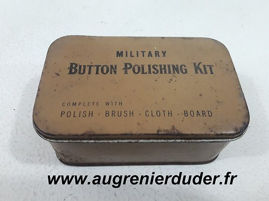 "Boite ""military button polishing kit "" US wwII"