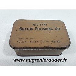 """Boite """"military button polishing kit """" US wwII"""