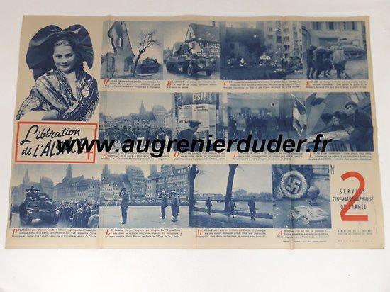 Affiche libération de l'Alsace France wwII