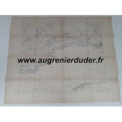 Carte canevas de tir Limey / Remenauville 1916 France