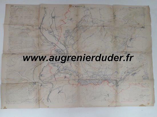 Carte canevas de tir Saint-Mihiel A France wwI