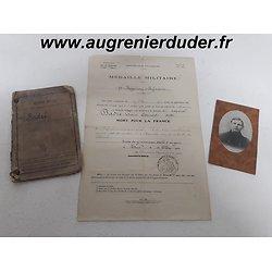 Ensemble papiers Mort pour la France 1915