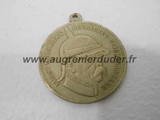 Médaille argent Bismarck Allemagne wwI
