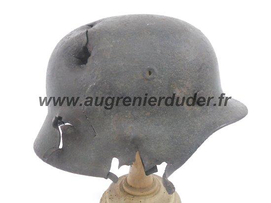 casque modèle 40 relique combats Allemagne wwII