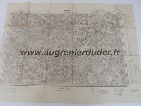 carte Valencay 1940 Allemagne wwII