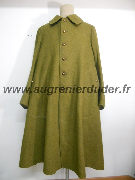 Manteau / capote officier moutarde France 1940