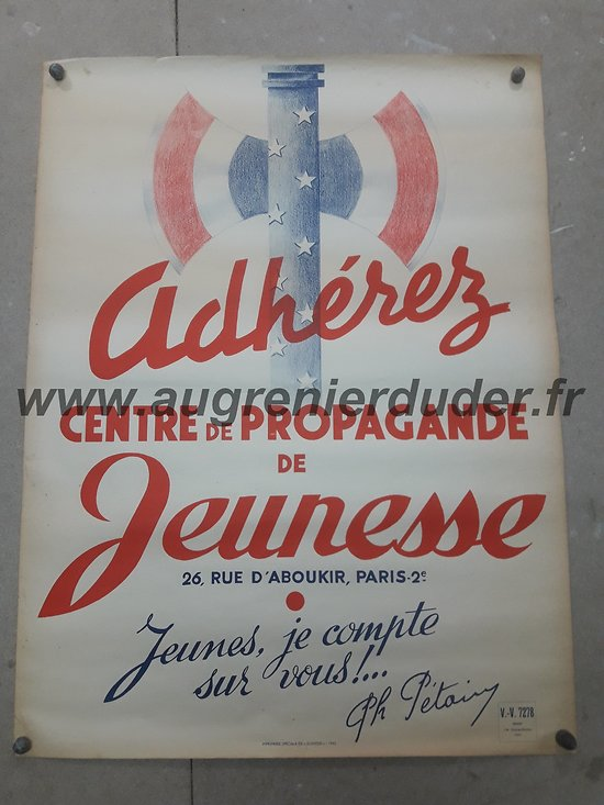 affiche Vichy Pétain France 1942
