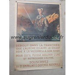 Affiche emprunt lieutenant Droit France ww1
