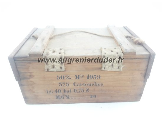 Caisse pour relais et cartouches mortier France ww2