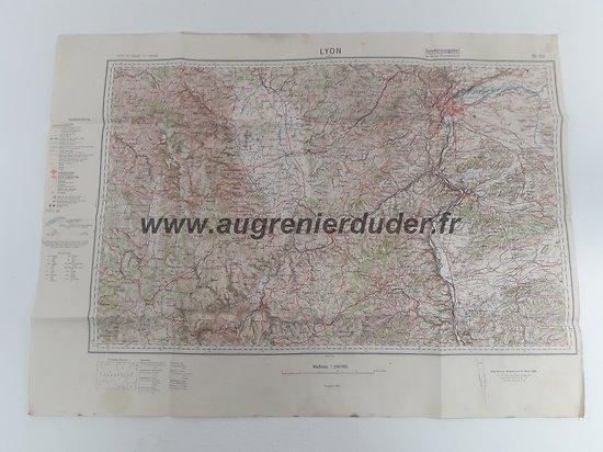 Carte Lyon 1938 Allemagne ww2