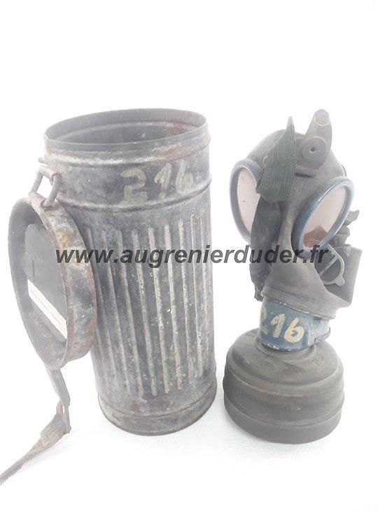 masque à gaz nominatif 1941 Allemagne ww2
