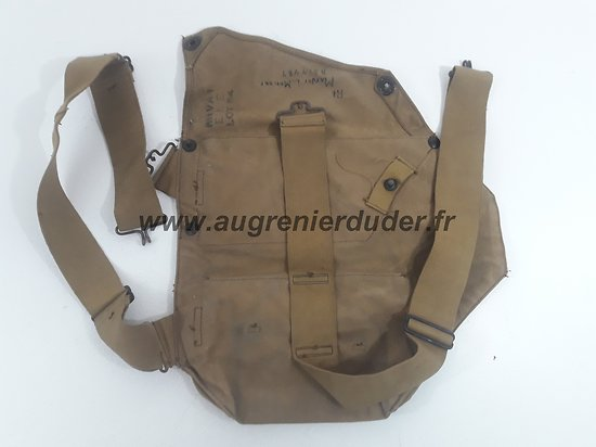Musette masque à gaz M2A2 nominative Wac ww2