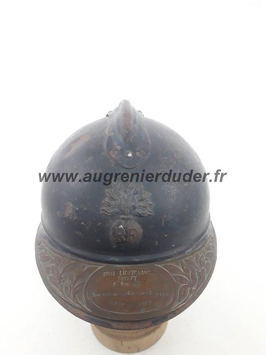 Casque Adrian nominatif sous lieutenant France ww1