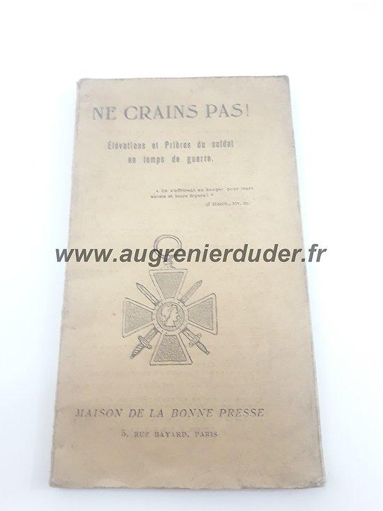 Livret de prières 1914 France ww1