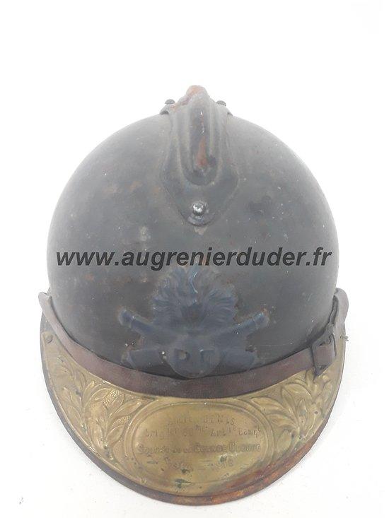 Casque Adrian artillerie nominatif France ww1