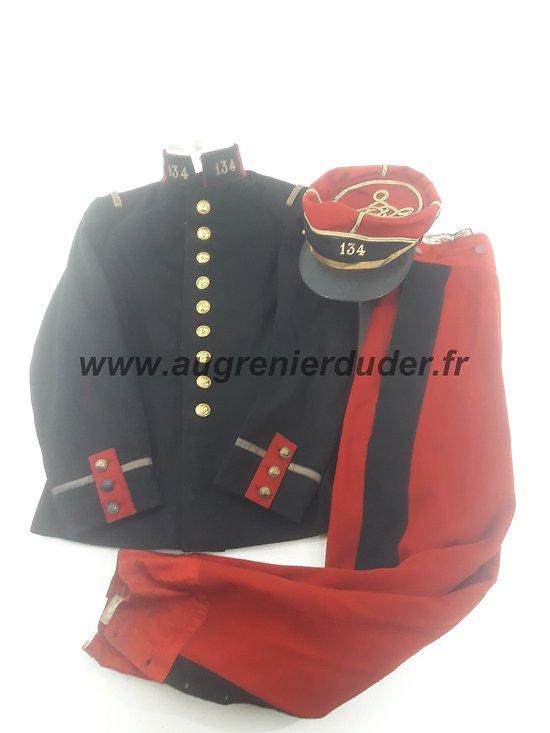 Uniforme sous lieutenant 134ème RI France 1914