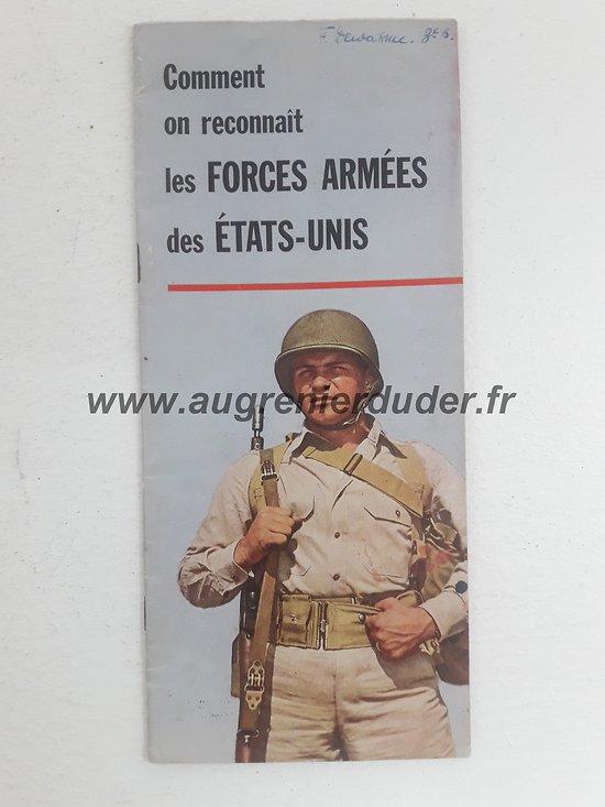 Livret reconnaissance forces US ww2