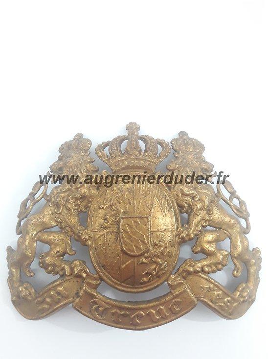 Plaque Bavaroise casque à pointe 1895 Allemagne ww1