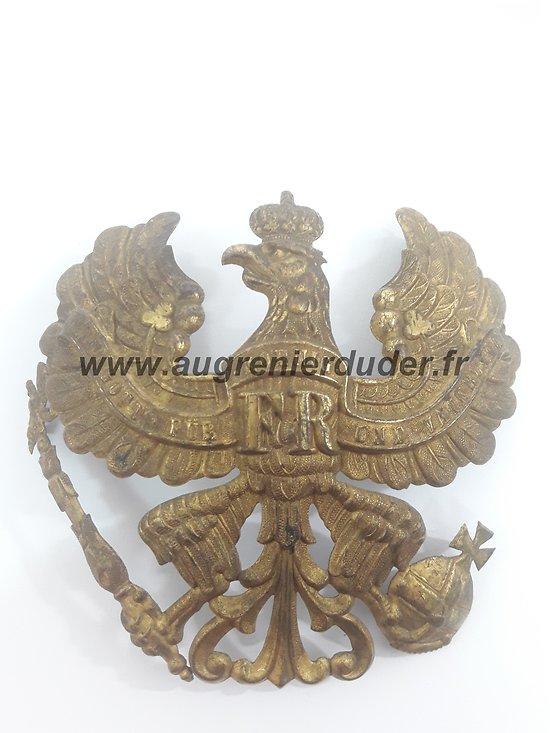 Plaque Prusse casque à pointe 1895 Allemagne ww1