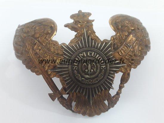 Plaque régiment de la garde casque 1895 Allemagne ww1