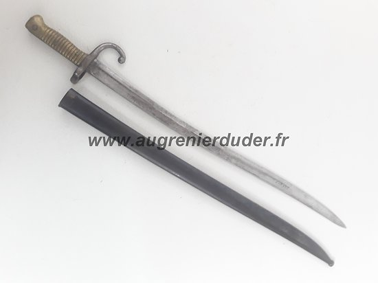 Baionnette fusil chassepot mdle 1866 France