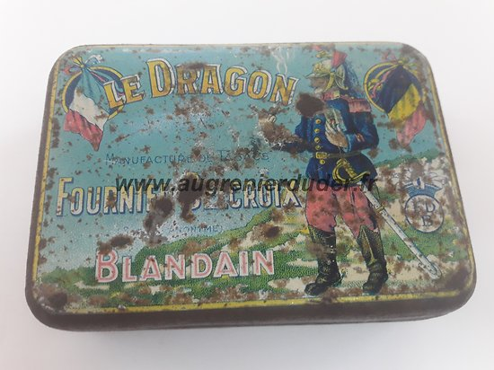 Boite de tabac dragon  France ww1 / ww2