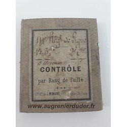 carnet 114éme régiment infanterie France 1870