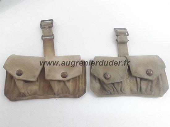 Paire porte chargeurs munitions Anglais ww2