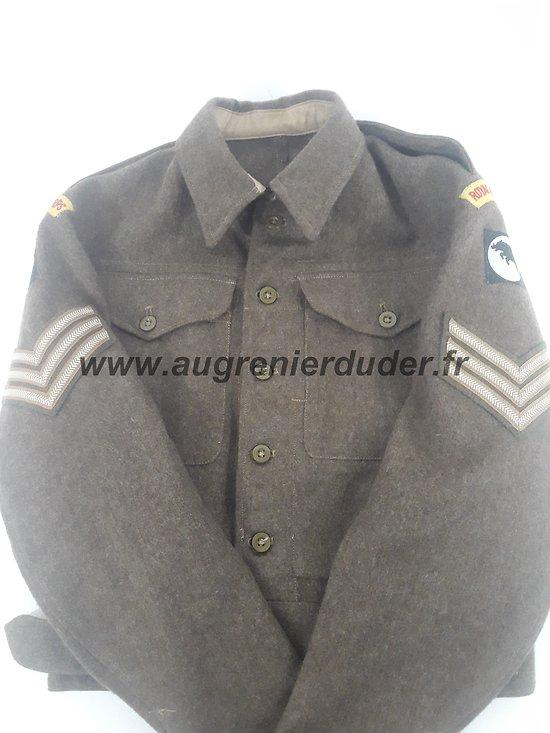 Blouson battle dress Royal Armoured Corps Anglais ww2