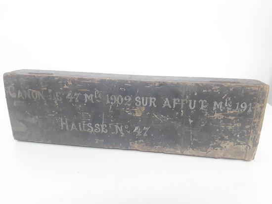 Caisse pour canon 47 mm France ww1