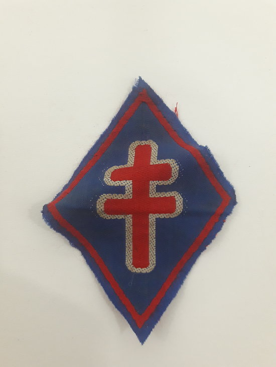 Insigne tissu FFL France ww2
