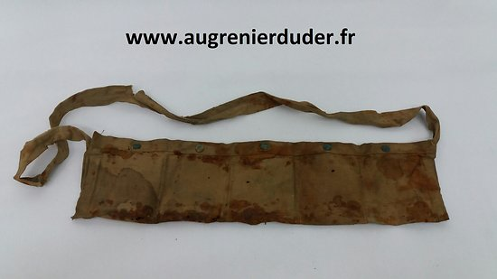 Cartouchiére toile GB wwI