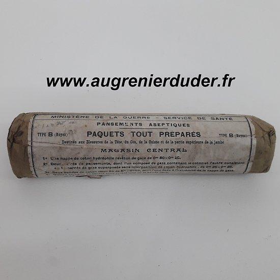 Pansement / compresse infirmier 1913 France ww1