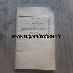 Basic field manual first aid 1943 US wwII