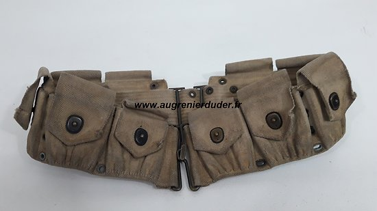 Ceinturon cartouchière / cartridge belt Springfield m1910 US wwI / wwII
