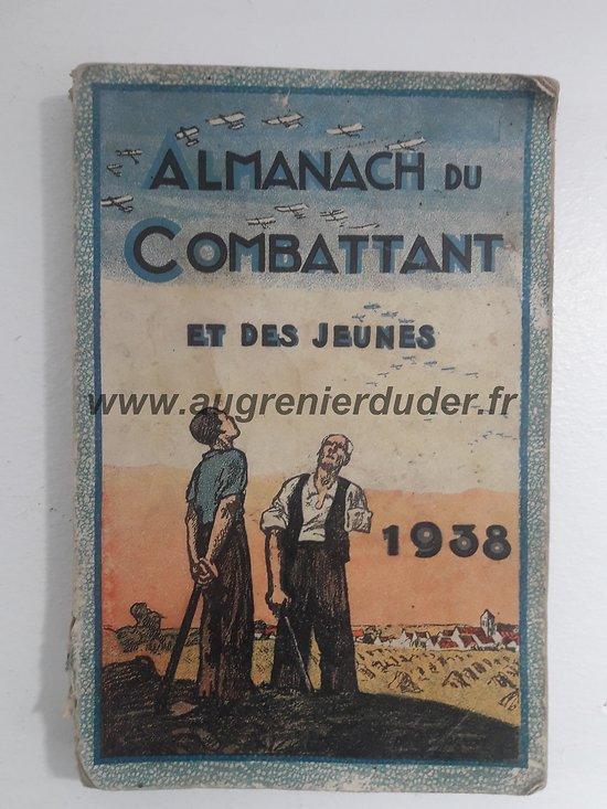 Almanach du combattant 1938 France wwII
