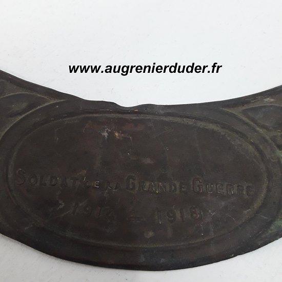 Plaque soldat de la Grande Guerre France wwI