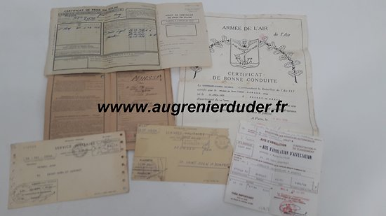 Lot livret individuel 1955 Bataillon de l'air 117