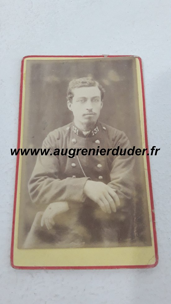 Photo cdv 131 ème infanterie de ligne France 1880