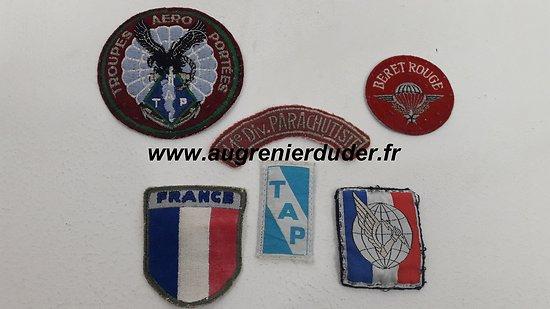 Lot insignes tissu parachutiste France