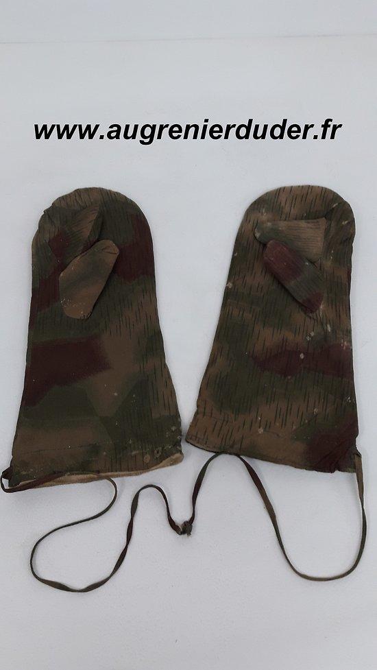 Paire de gants camouflés hiver Allemagne wwII